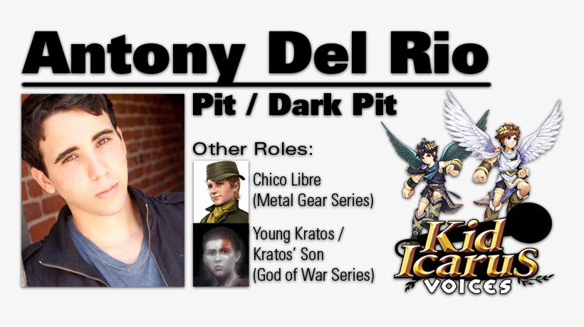 Antony Is A Relative Newcomer To Video Game Voice-acting, - Kid Icarus Uprising Voice Actors, transparent png #3458927