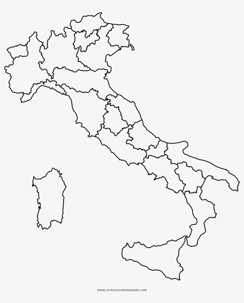 Map Of Italy Bologna.On Italy Map Coloring Page Bologna Region Map Free Transparent