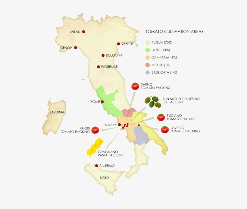 Heritage Map Italy Food Production Map Free Transparent
