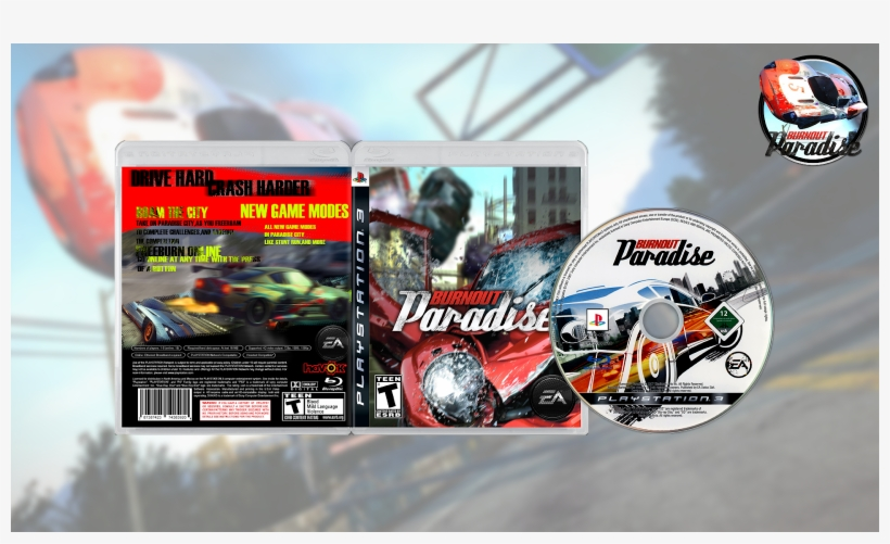 Games Gamers Burnout Paradise Usa Europe Download Png - Electronic