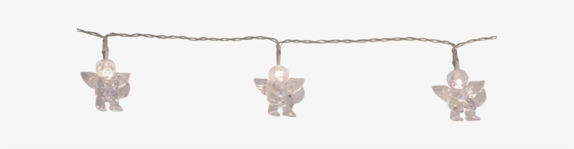 Light Chain Cherub - 10-bulb Led String Lights Angels, transparent png #3471238
