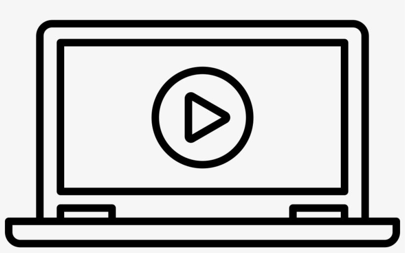 Laptop With Video Player - Laptop Video Icon, transparent png #3473445