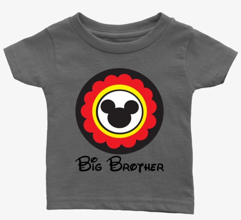 cbc32b0be92d Mickey Mouse Inspired Big Brother Infant T-shirt - Artix Cartoon Boy Big  Brother Family