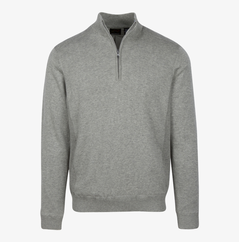 Tap To Expand - 1 4 Zip Grey Sweatshirt, transparent png #3474328