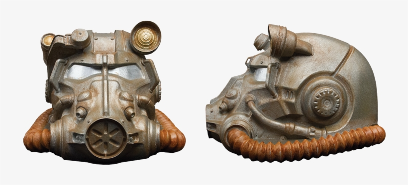 Inspired By The Most Powerful And Sought After Technology - Fallout Power Armor Helmet Collector's Coin Bank, transparent png #3474737