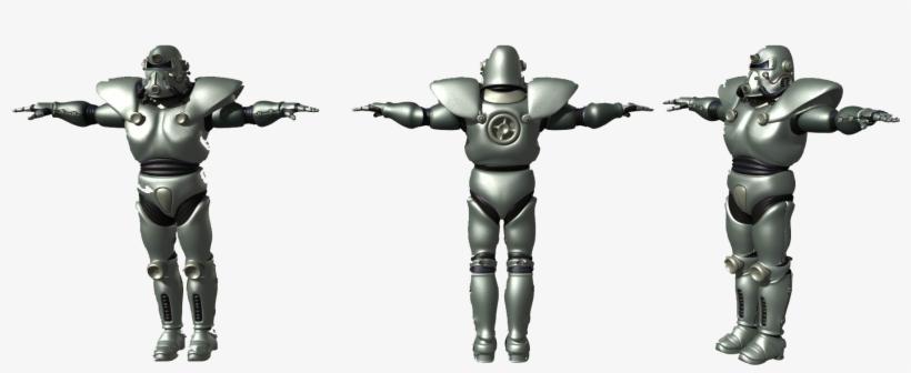 Vb Power Armor Ca1 - 3 T 51b Power Armor, transparent png #3474852