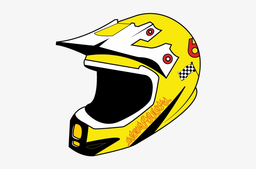 198ca3eea Racer Helmet Vector Png Logo Flame Fire Dirt Bike Atv - Motorcycle Helmet