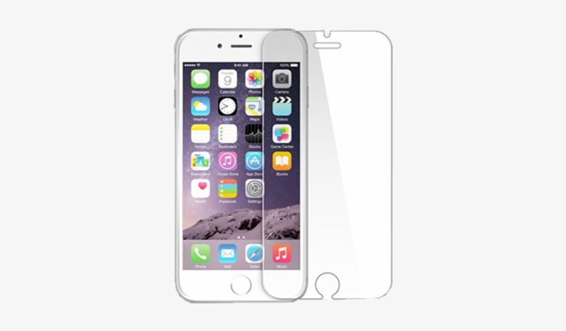 Iphone 7 Tempered Glass Screen Protector Film - Iphone 8 Plus Front Screen, transparent png #3477999
