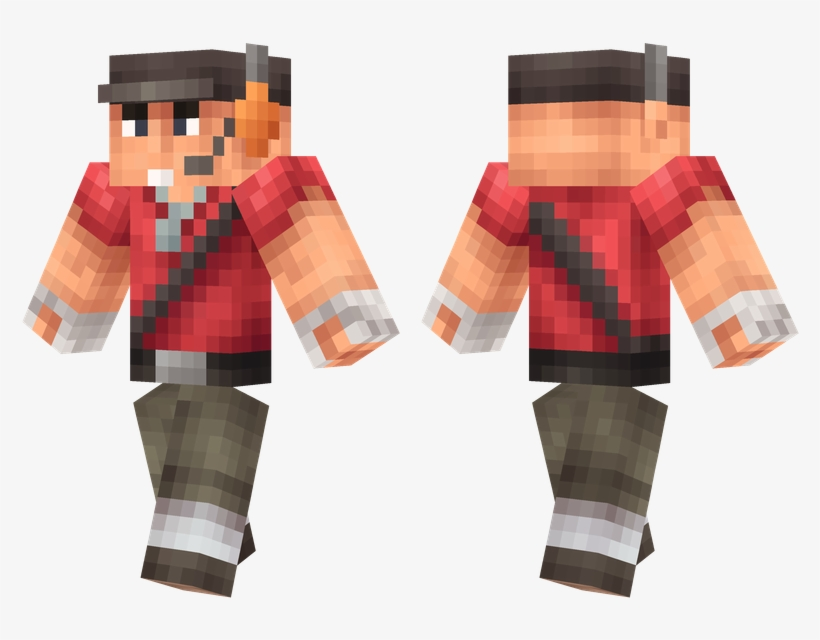 Tf2 Scout Minecraft Team Fortress 2 Scout Free Transparent Png Download Pngkey