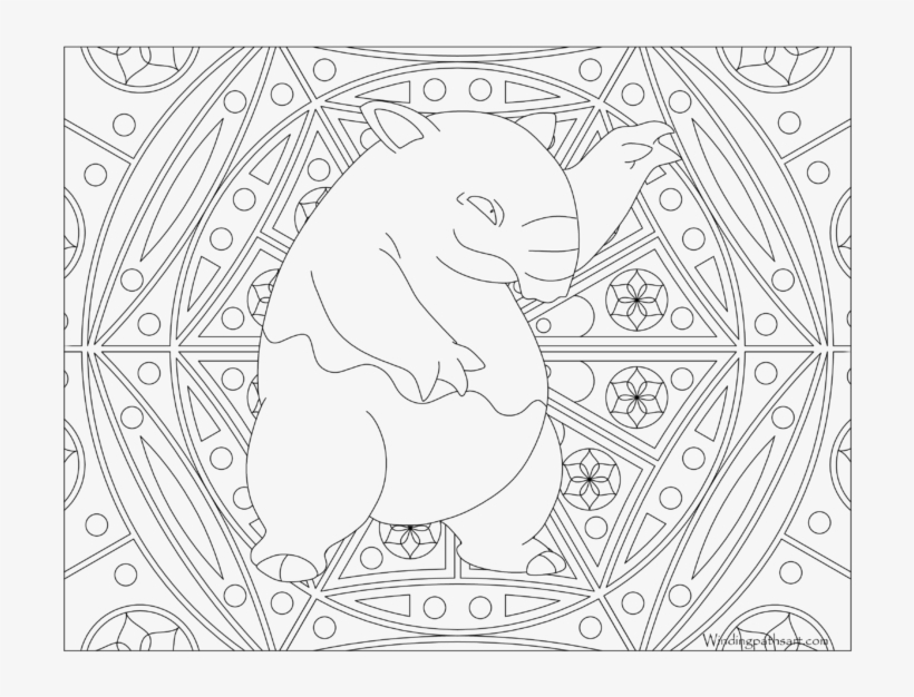 Adult Pokemon Coloring Page Drowzee - Pokemon Adult Coloring Pages, transparent png #3486525