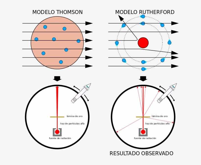 Y El Rebote De Las Partículas Alfa Indica Un Encuentro - Modelo Atomico De Thomson Y Rutherford, transparent png #3488943
