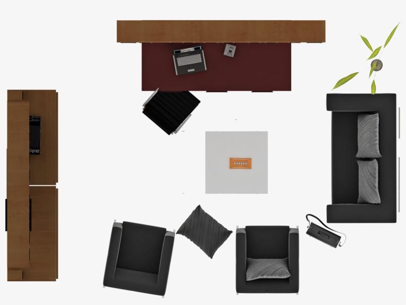 Estudio - Muebles En Planta Png, transparent png #3491039