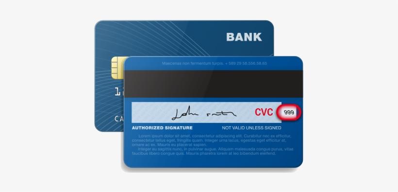 Credit Cards Back Cvc Security Code - Card Security Code Visa - Free