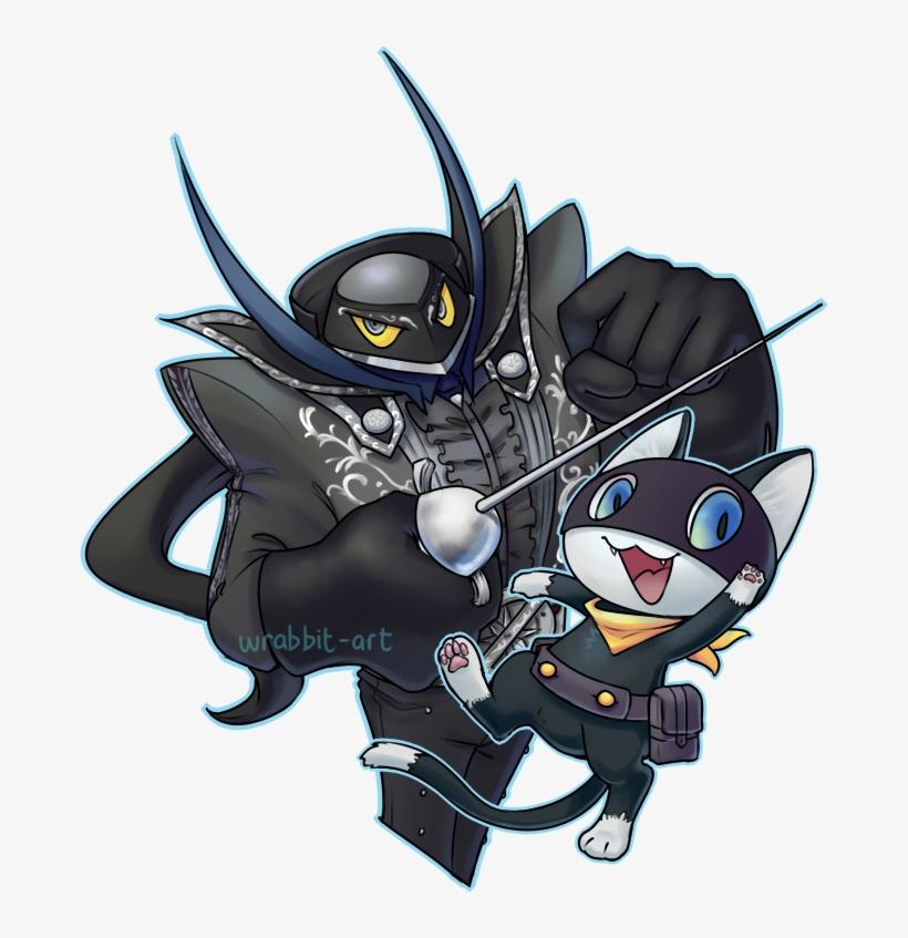 Zorro And Morgana - Persona 5 Morgana Zorro, transparent png #3493112