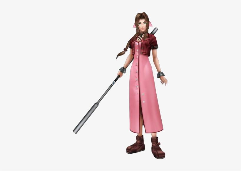 Dissidia Aerith - Final Fantasy Aerith Gainsborough Cosplay Costume, transparent png #3495508