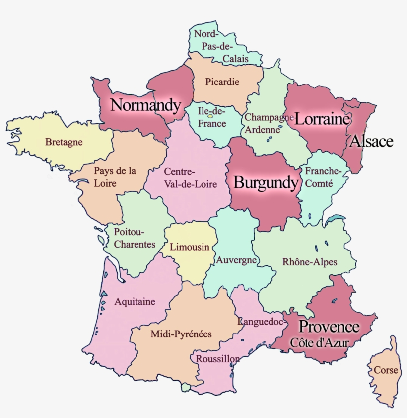Map Of France With Neighbouring Countries.Regions Of France Map France And Neighbouring Countries Free