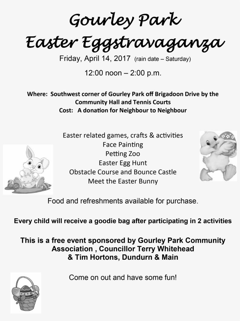 Gourley Park Easter Egg Hunt - Easter Clipart, transparent png #3498098