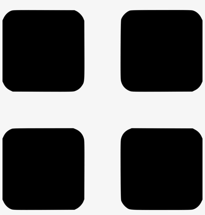Menu Grid Apps Options Tool Comments - Four Square Icon Png