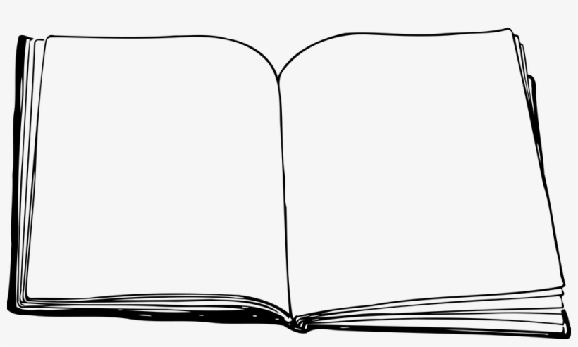 Old Paper Border - Open Book Clip Art Black And White, transparent png #352871