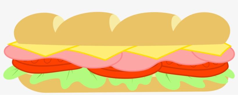 Sandwich Clipart Subway Restaurant - Sub Sandwich Clipart, transparent png #352932