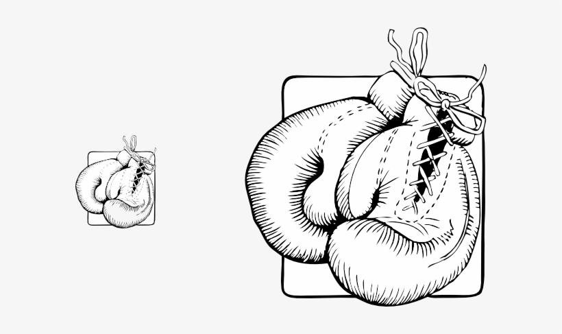 Boxing Gloves Ing Gloves Clip Art At Vector Clip Art - Boxing Gloves Outline, transparent png #354108