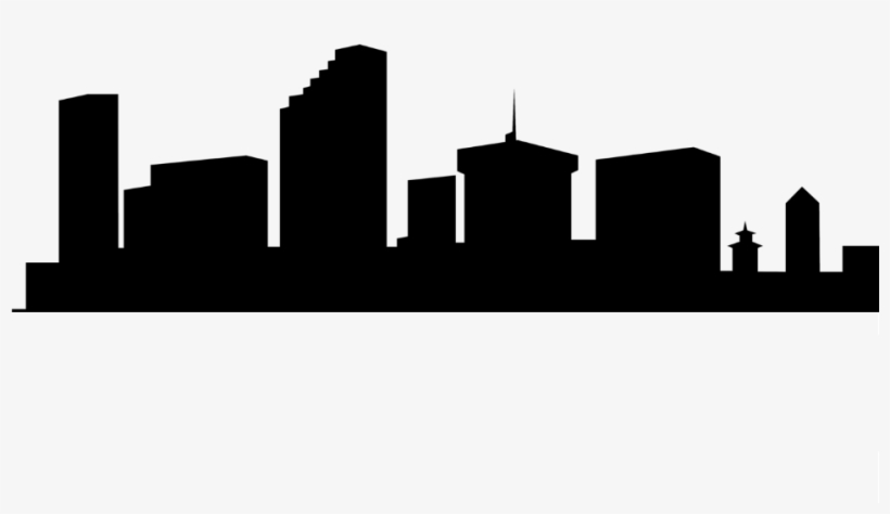 Building Silhouette Clip Art 101 Clip Art - Nyc City Skyline Silhouette Png, transparent png #354148