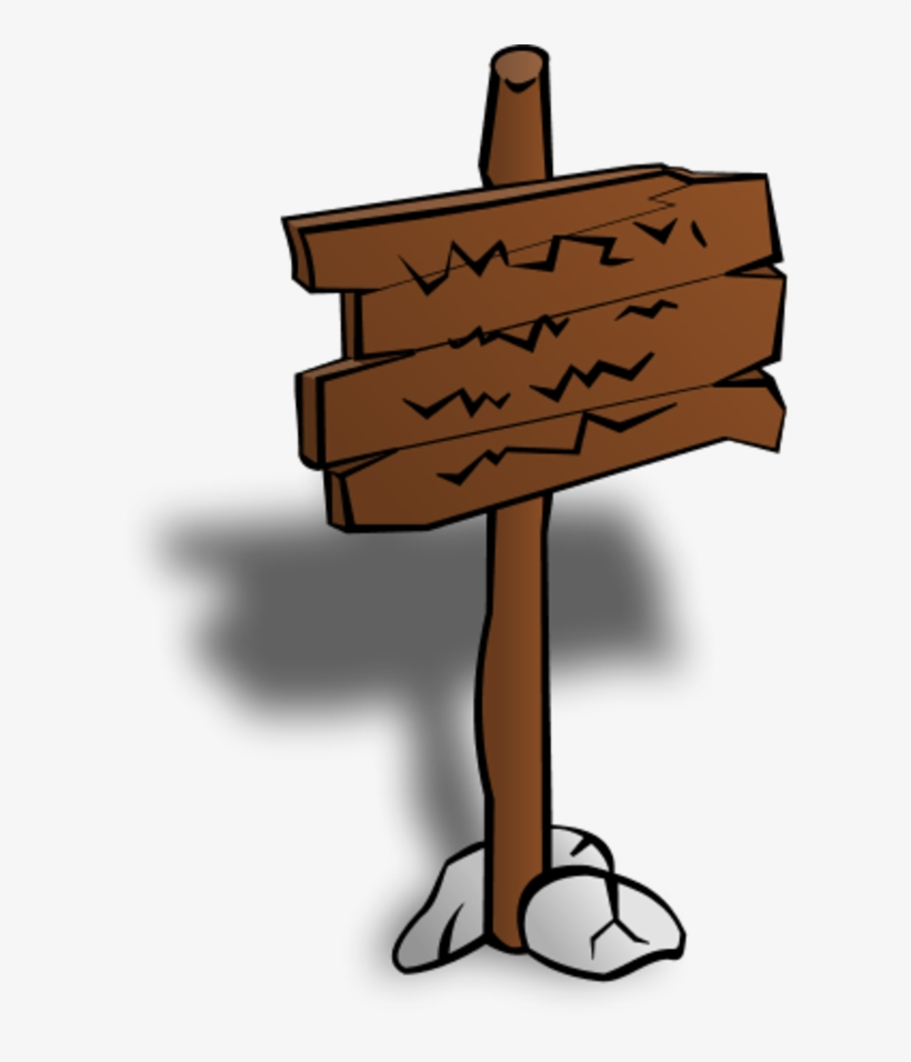 Wooden Sign Post Stick Clipart Sign Post Clip Art Free