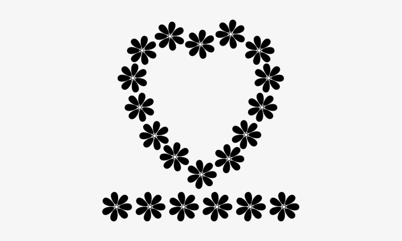 Black Flower Borders - Designer Flower Borders Black And White, transparent png #354322