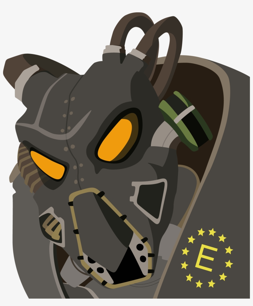Drawn Amour Fallout 4 - Fallout Power Armor Drawing, transparent png #355416