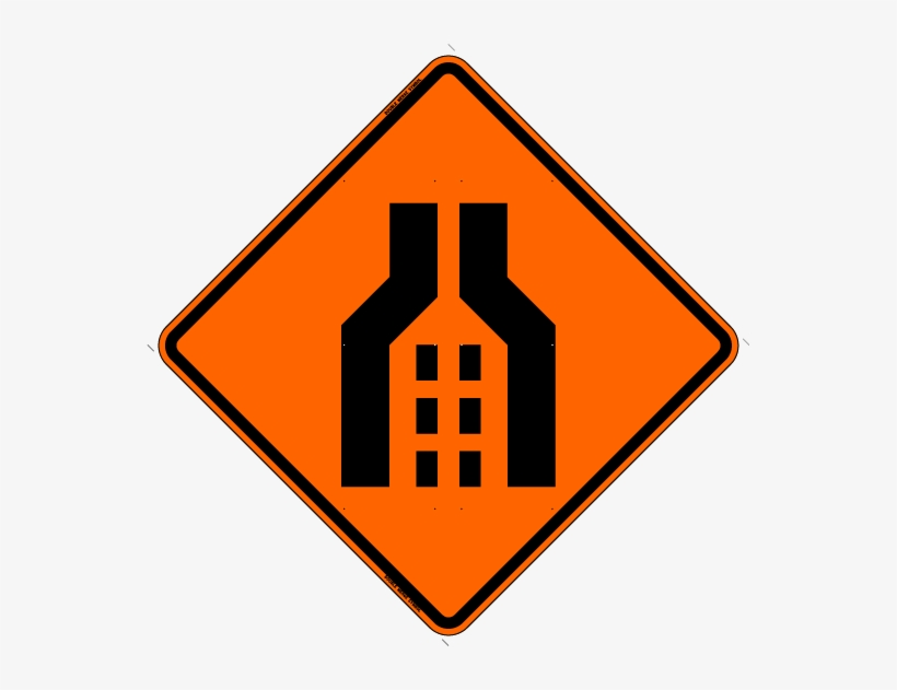 Double Merge Symbol 01 Double Merge Symbol 02 Double - Road Work Sign Cartoon, transparent png #355922