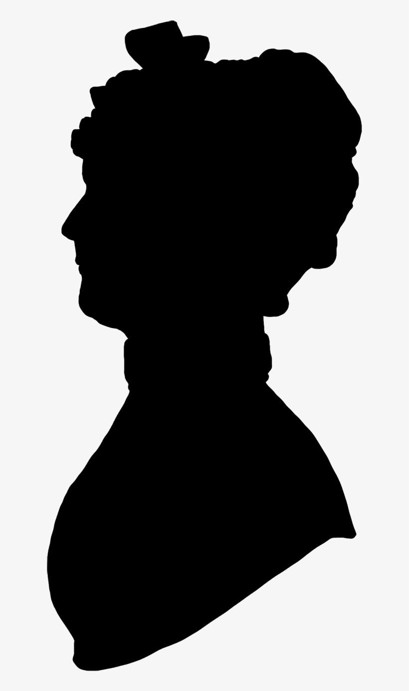 Profile Silhouette Woman Png - Old Woman Head Silhouette, transparent png #357329