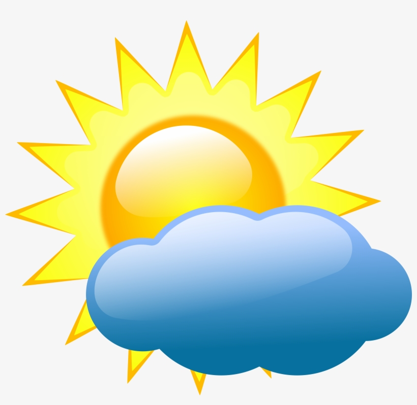 Summer Clipart Weather - Weather Symbols Partly Cloudy, transparent png #357655
