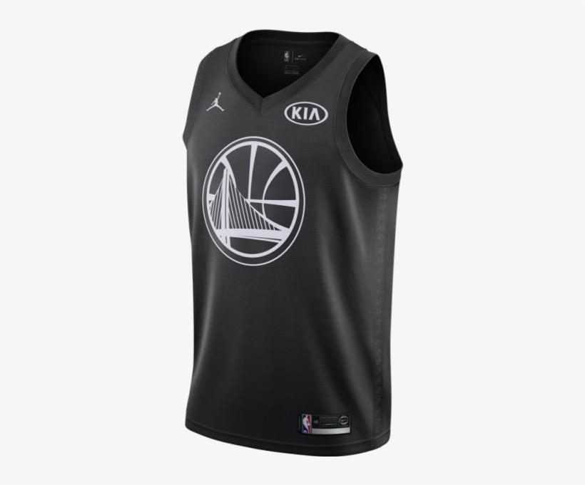 Jordan Nba Connected Jersey Stephen Curry All-star - All Star Basketball Jersey 2018, transparent png #359563