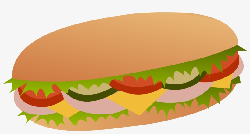 Sandwich With Onion And Lettuce Png Clipart - Sub Sandwich Clipart, transparent png #359900