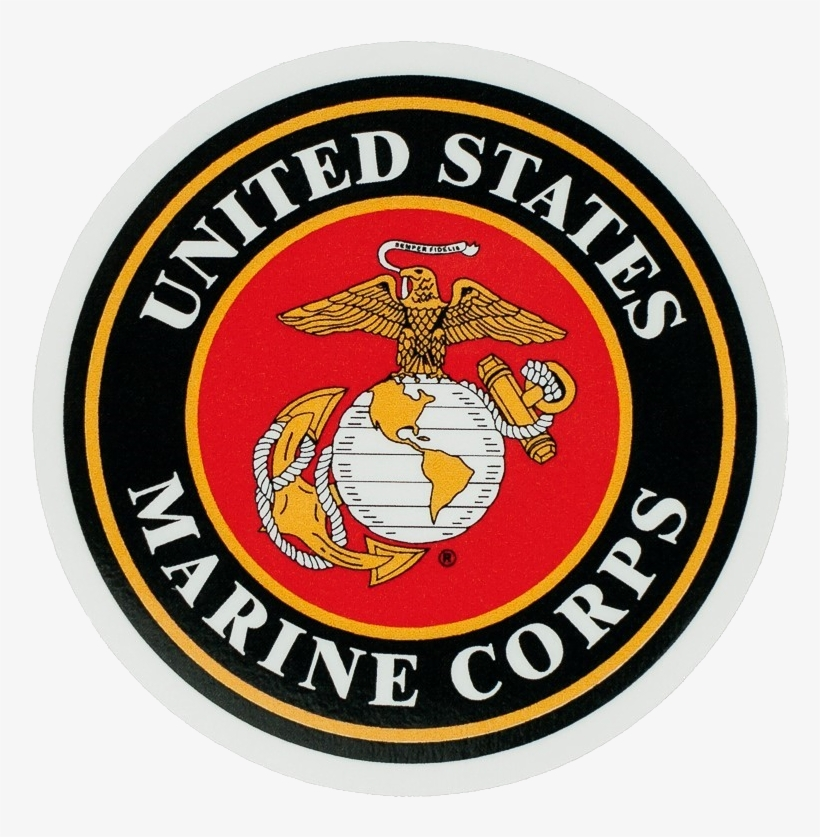 Seagoing Marines Presentation - Powerdecal Milpwr004 Led Light-up Decal U.s. Marine, transparent png #3501575