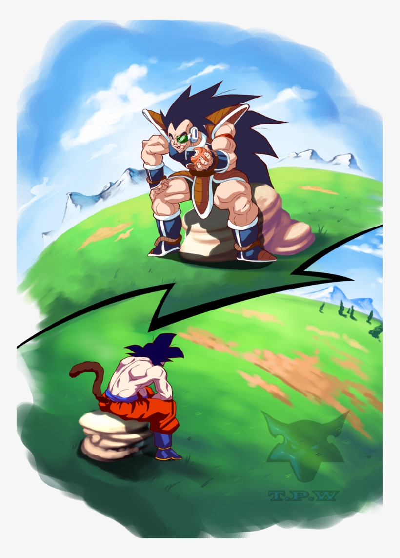 Raditz/goku By Phantomstudio-tommy On Deviantart - Dragon Ball Z Goku And Raditz, transparent png #3506213