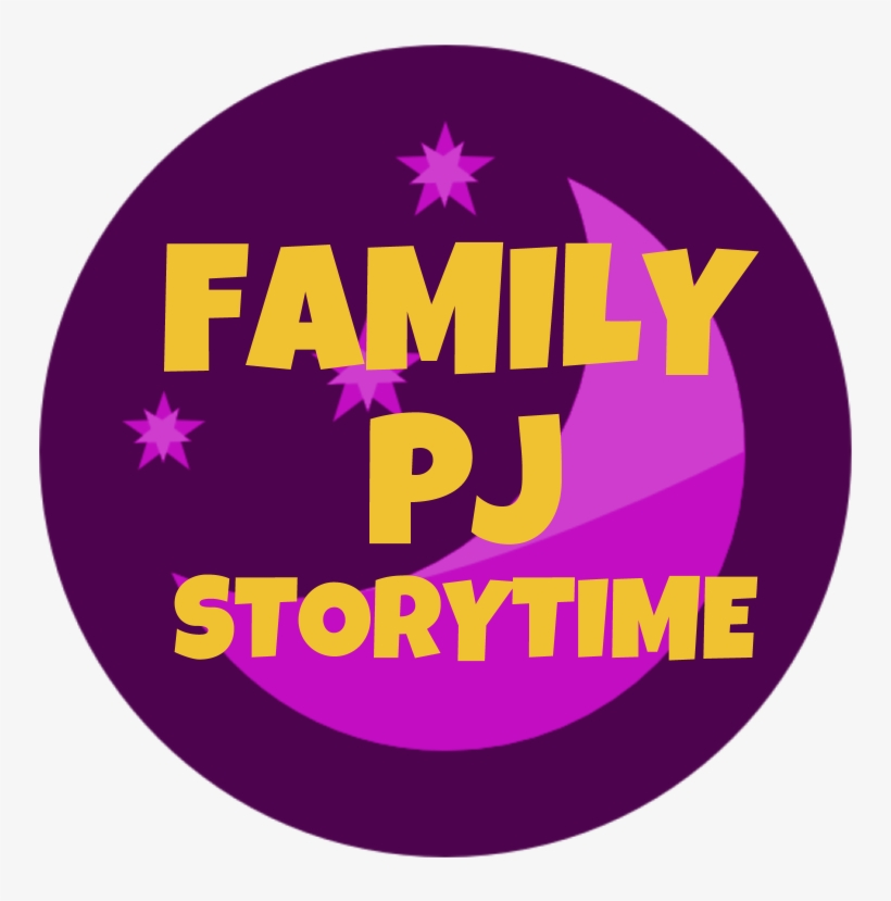 """Dark Purple Circle With The Words """"family Pj Storytime"""" - Circle, transparent png #3511869"""