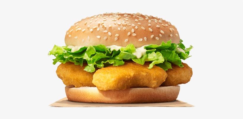 Nugget Burger - Burger King Chicken Nugget Burger, transparent png #3515522