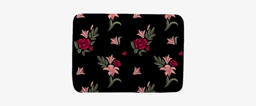 Lilies And Roses - Seamless New Floral Print, transparent png #3525152