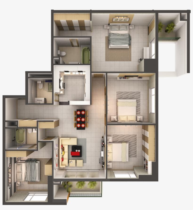 Best House Interior 3d Model - Apartment Intern 3d Model, transparent png #3526576