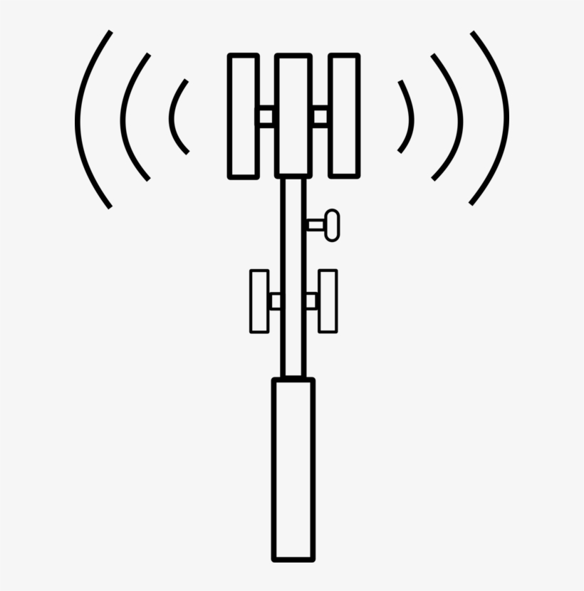 Cell Site Mobile Phones Telecommunications Tower Aerials - Cell Phone Tower Icon, transparent png #3527906