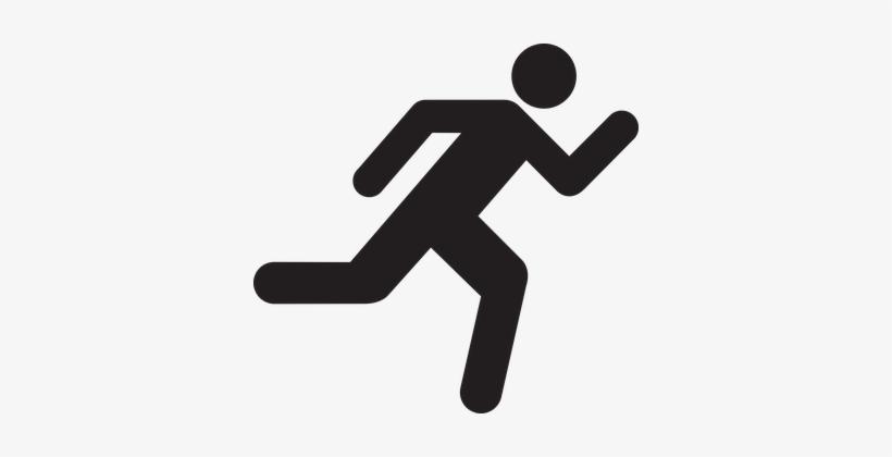 Stick Man Runner Silhouette Figure Running - Running Stick Man, transparent png #3532111