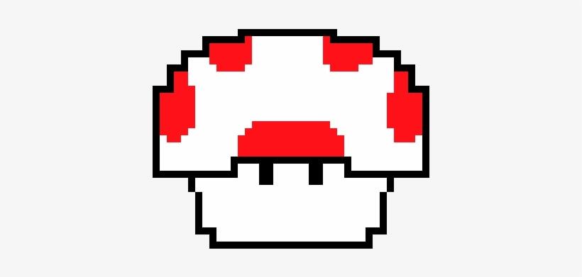Super Mario Mushroom Pixel Art Free Transparent Png Download