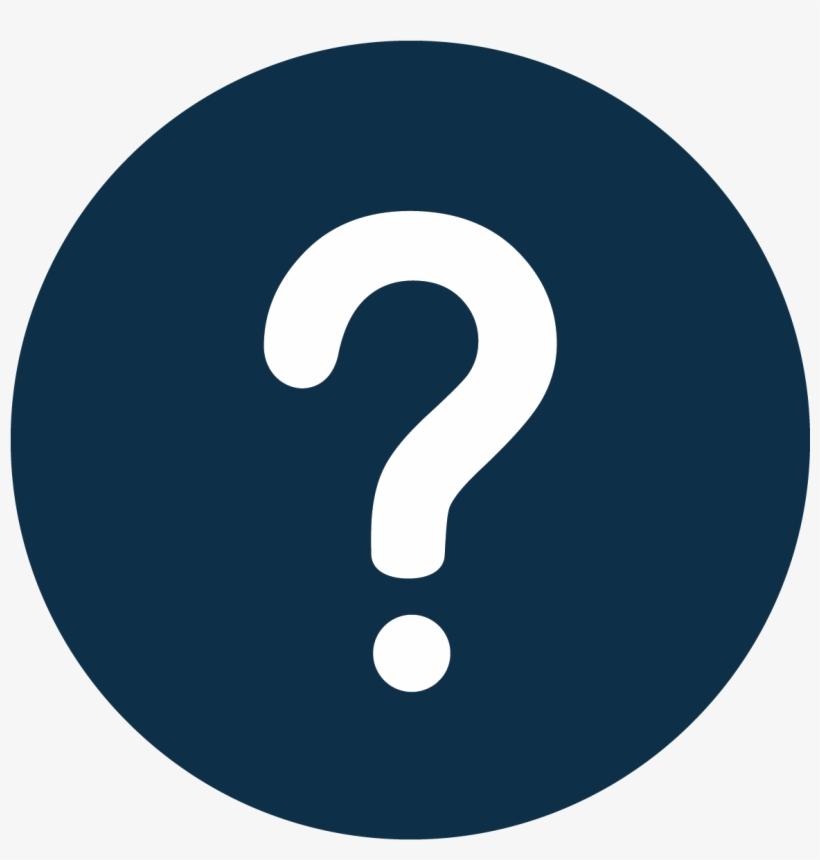Question Mark Black Circle Background, transparent png #3536394