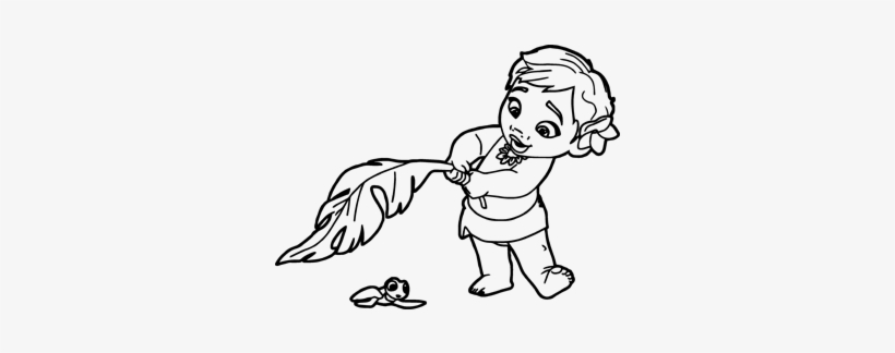 Cor Do Fundo - Moana Coloring Pages To Print, transparent png #3537417