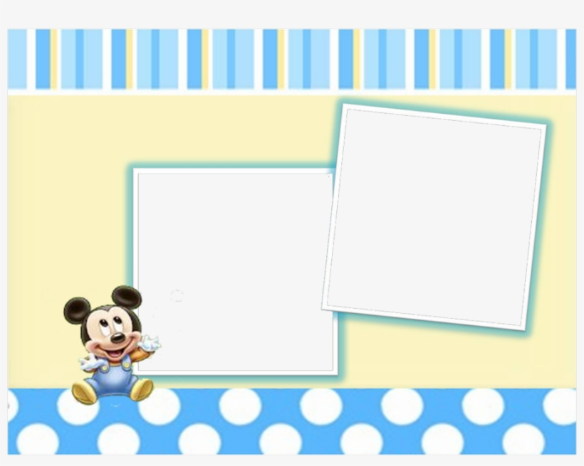 Download Marco Para Foto De Mickey Bebe Png Clipart - Disney Mickey (first Birthday) Beverage Napkin, transparent png #3537446