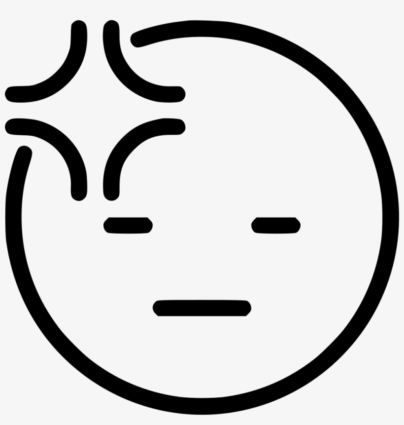 Headache Comments Angry Face Clipart Black And White Free