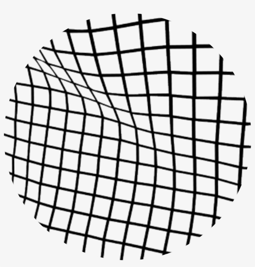 Overlays Circulo Overlay Negro Rallas - Wavy Grid Overlay