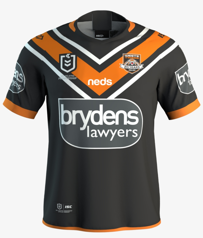 Dale Johnson Liked This - Wests Tigers Home Jersey 2017, transparent png #3543889