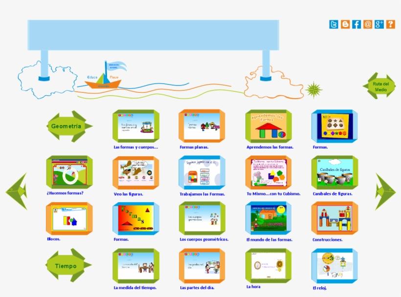 Las Formas Geométricas Y El Tiempo En Educación Infantil - Meses Del Año Ilustrados En Ingles, transparent png #3546303